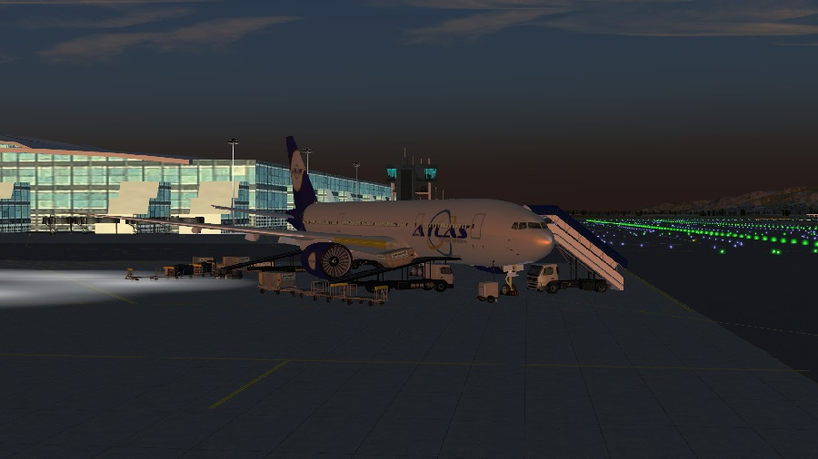 Deboarding the Boeing 777 after flight AVX9777 from (LFMN/NCE) Nice C?te d'Azur Airport to (LEBL/BCN) Barcelona-El Prat Airport.